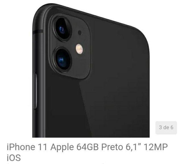 iPhone 11 Apple 64GB Preto 6,1? 12MP iOS<br><br> - Foto 3