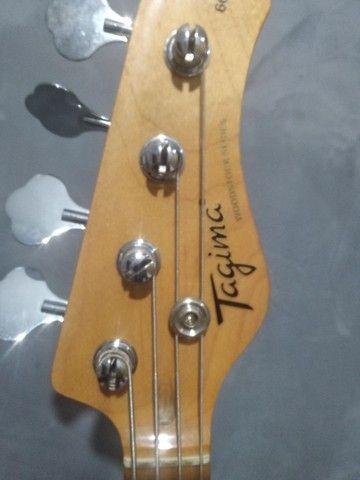 Baixo Passivo Tagima Woodstock TW-66 4 cordas usado - Foto 4