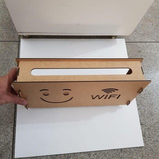 suporte wifi roteador mdf cru - Foto 6