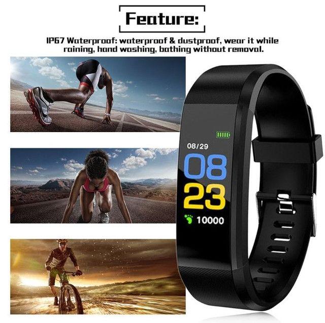 Smartband Relogio Inteligente Id115 Plus Hr Monitor Cardíaco - Foto 4