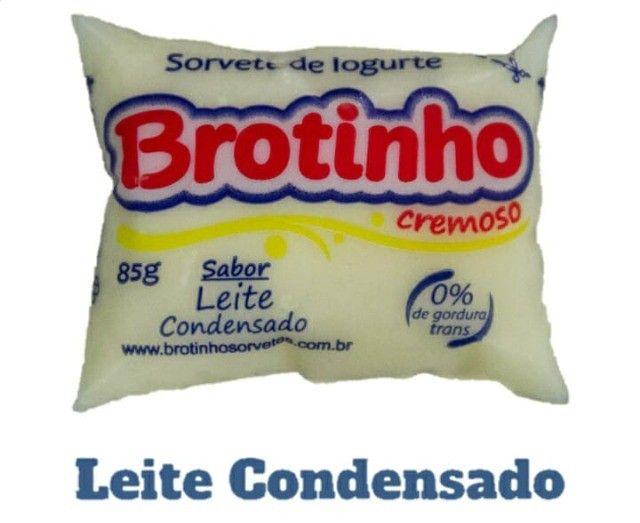 Brotinho - Sorvete de Iogurte Cremoso, 85g com 50unds - Foto 3