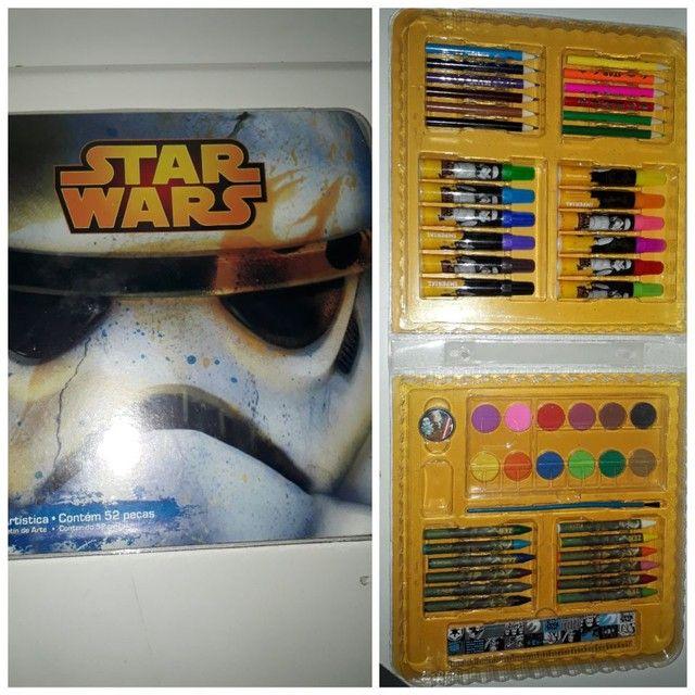 Maleta artística nova original Star Wars c/+50 itens