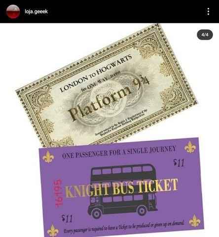 Mapa do maroto + tickets - Foto 4