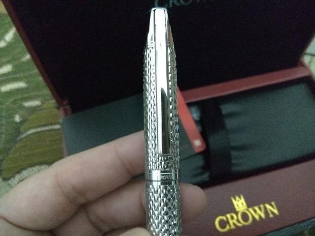 Caneta Crown Roller Ball Royal Collection Filigran Silver Prata - Foto 6