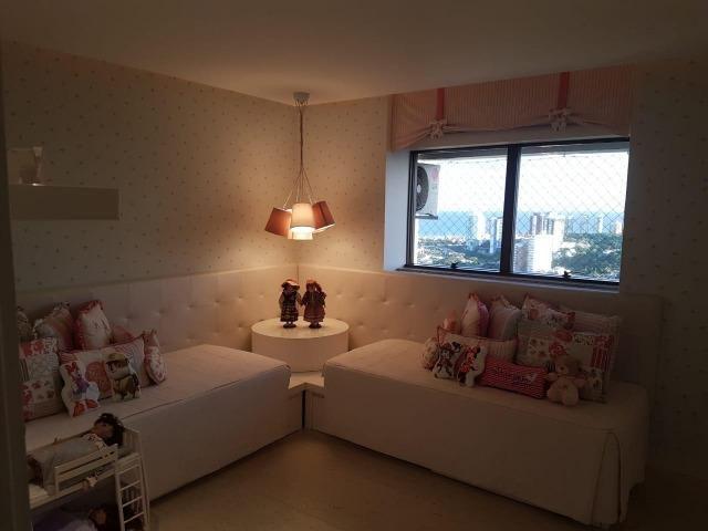 Apartamento Lumno 4 Suítes 276m2 Alto 4 vagas Decorado Nascente linda vista mar - Foto 5