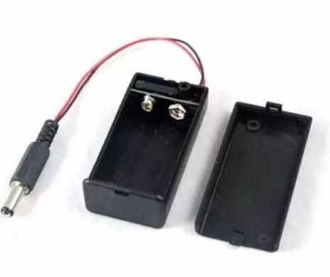 COD-CP21 Caixa Case Suporte Bateria 9v Chave On/off + Pino Ac Arduino Automação Robotica - Foto 3