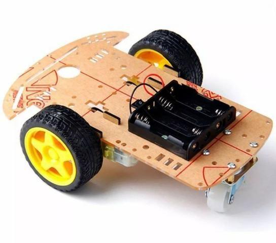 COD-AM211 Kit Chassi 2wd Carro Robô Arduino Automação Robotica