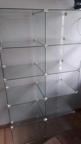 3 vitrines + mesa de vidro - Foto 4