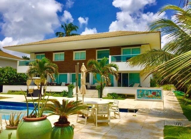 Luxuosa casa duplex com mobília sofisticada á beira mar da reserva do paiva confira-E
