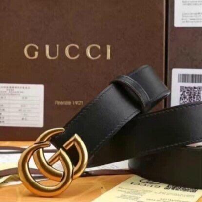 Cinto Gucci Marmont Double G Couro Animal Original Feito na Itália ... e8e48987ccb