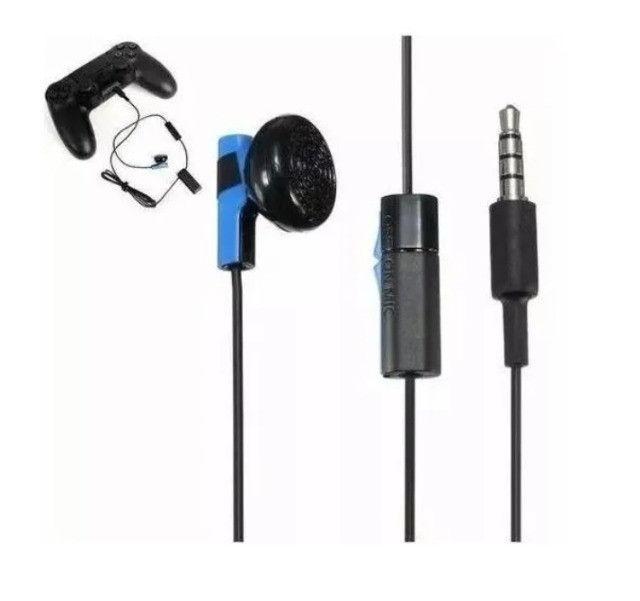 Fone De Ouvido Auricular Microfone Ps4 Original Com Fio Sony NOVO - Foto 2