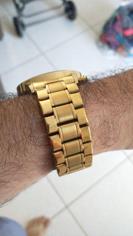 Relógio Original Masculino Dourado Novo na Caixa Armiclock - Foto 3