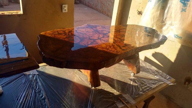 Mesa de centro de madeira resinada - Foto 6