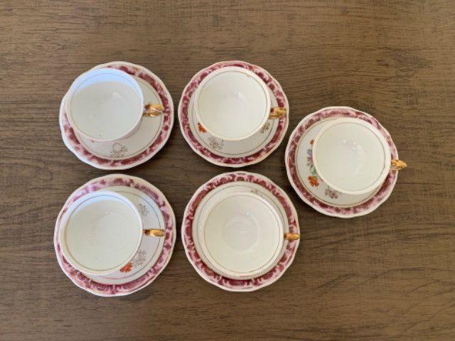 Jogo de xícaras porcelana schmidt antiga - Foto 2