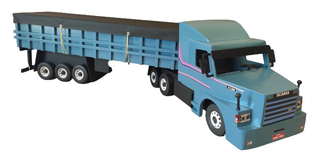 Carreta Scania graneleira 113 miniatura - Foto 2