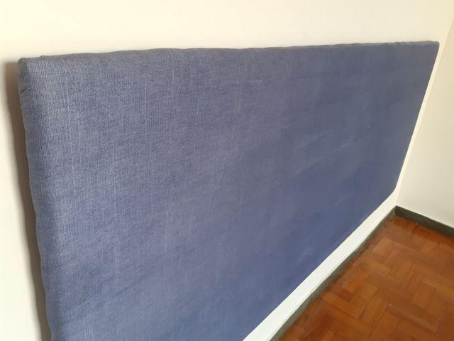Cabeceira de cama em mdf 18mm estofada em espuma e tecido suede. R$80,00 - Foto 4