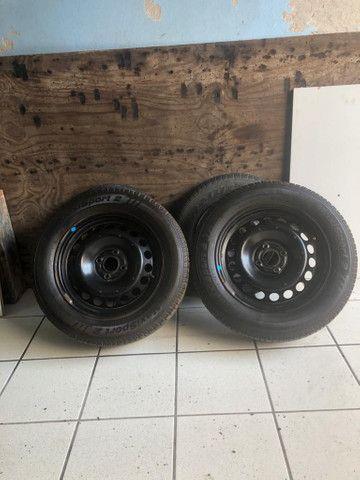 2 Aros e 2 pneus 195 65 15