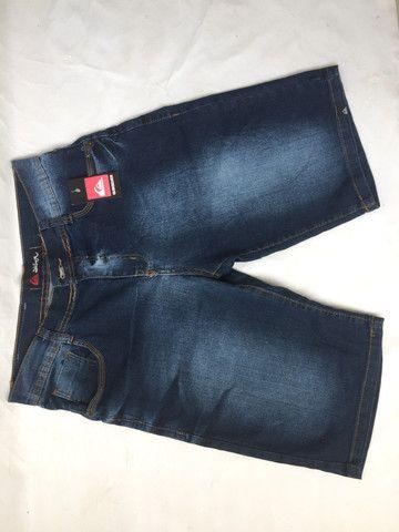 Bermuda jeans com elastano e bermuda de sarja preta - Foto 5