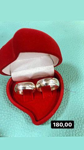 Aliança de namoro prata 925 - Foto 4