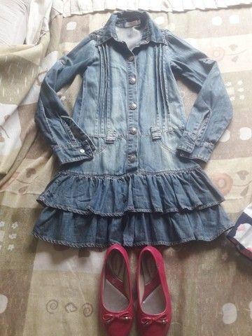 Kit Vestidos Menina tamanho 10 - Foto 5