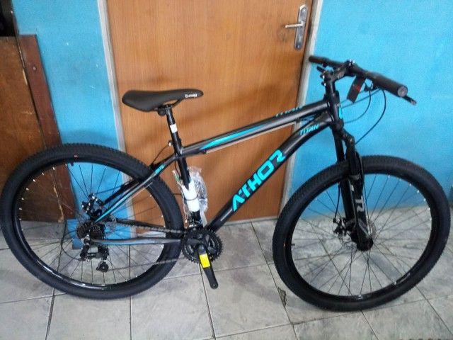 BICICLETA ATHOR TITAN ARO 29 PRETA/ AZUL