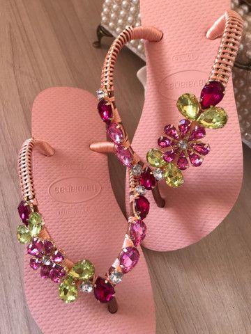 Sandálias customizadas  - Foto 3