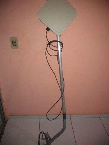 Antena via rádio com suporte e ofertas