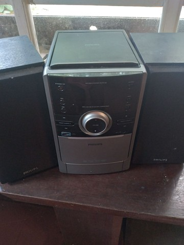 Micro system MCM 166 c cd , rádio, pen drive ,  PHILIPS . Só hoje 140 reais!  - Foto 2
