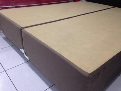 Base Box Queen Size em Suede Marrom - Foto 2