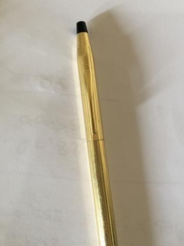 Caneta Cross Century rotatória banhada a ouro 12kt