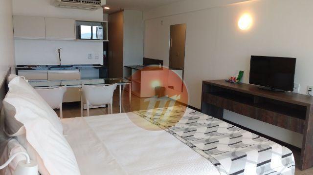 Excelente quarto/sala mobiliado com vista para o mar - Ref.: A1009
