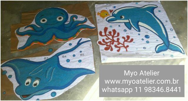 Âncora Mosaico, piscina, golfinho, mandala, piso mosaico - Foto 5
