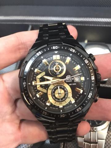 aad72071a62 Vende-se Relógio CASIO EDIFICE cronógrafo efr-539bk-1avudf preto dourado