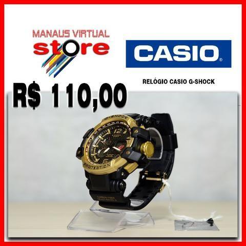 f8ec9745ad5 Relógio Cássio G-Shock dourado - Analógico e Digital - Bijouterias ...