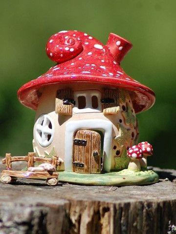 Casinha de fada para enfeite de interiores - Foto 2