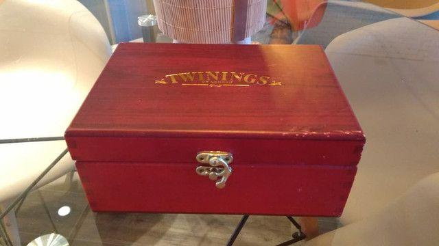 Caixa de Chá inglesa TWININGS LONDON Vintage - Foto 3