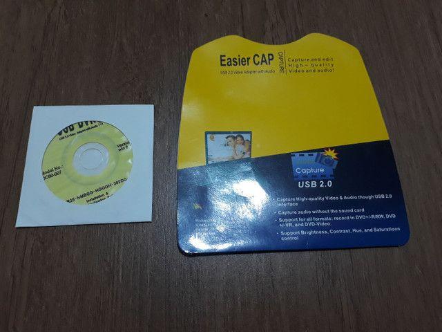 Easycap Original + Cabo RCA 10 metros - Foto 4