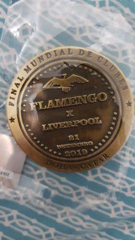 Moeda medalha Flamengo Final mundial