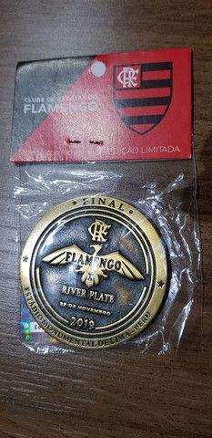 Moeda medalha Flamengo Final Libertadores  - Foto 2