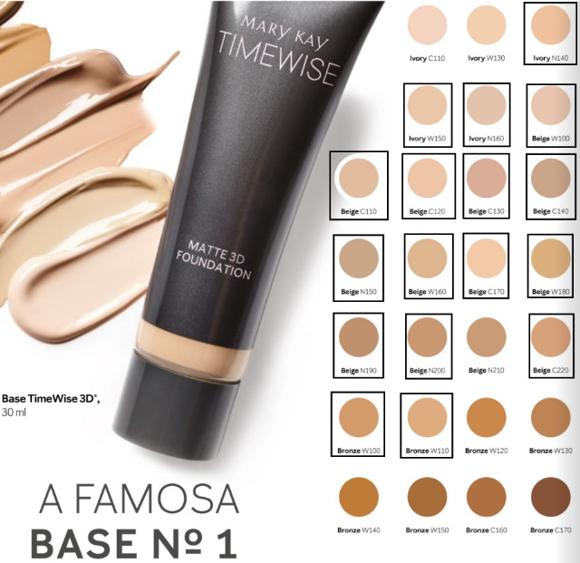 Base Timewise 3D Mary kay Acabamento Matte/Beige/Yvory