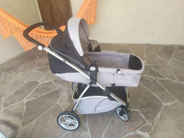 Carrinho Galzerano com Moises + Bebê Conforto