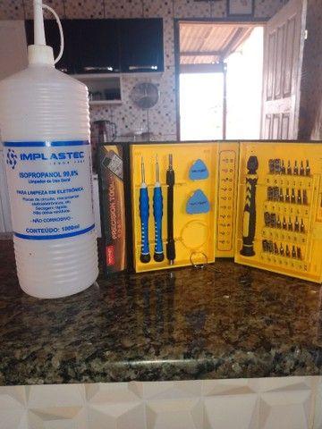 Vendo jogo de chave yaxun e álcool isopropílico .. - Foto 2