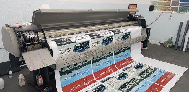 Máquina de impressão 3.20m cabeça seiko  - Foto 4