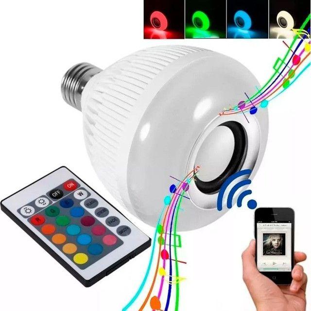 Lampada Bluetooth De Led Caixa De Som
