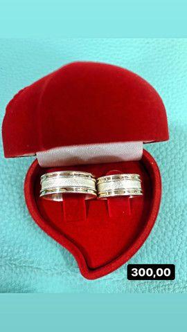 Aliança de namoro prata 925 - Foto 5