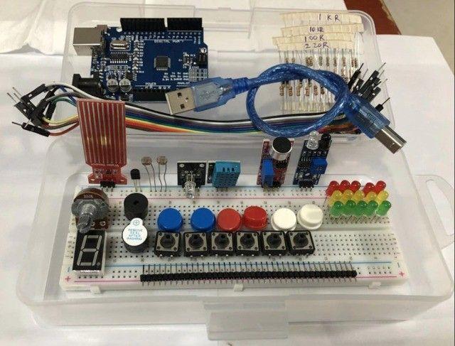 Kit Arduino Uno. Brinde Caixa Plástica - Foto 4