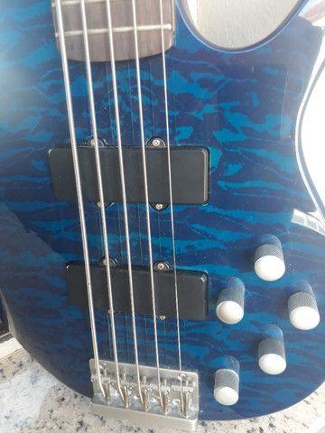 Bass Art Guitars 5C Ativo parcelo no cartão ML avalio trocas - Foto 3