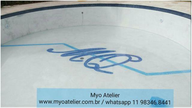 Âncora Mosaico, piscina, golfinho, mandala, piso mosaico - Foto 4