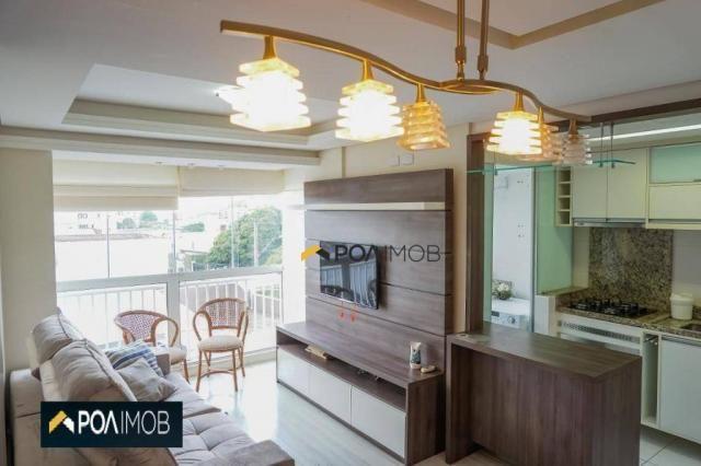 Apartamento com 2 dormitórios para alugar, 60 m² por R$ 2.652,00/mês - Cristo Redentor - P - Foto 16