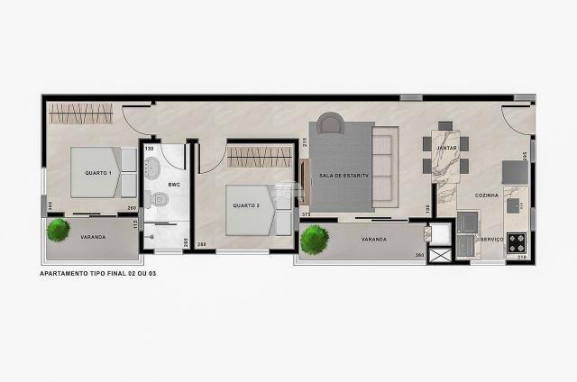 Apartamento à venda com 2 dormitórios em Jardim botânico, Curitiba cod:151130 - Foto 2